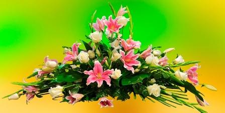 Almohadón de flores Marianela