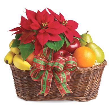 Cesta navideña Poinsenttia Fruit