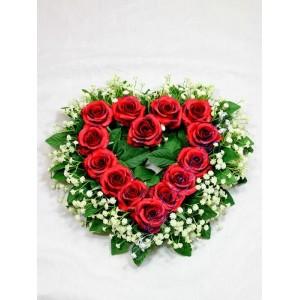 Corazón rosas amor