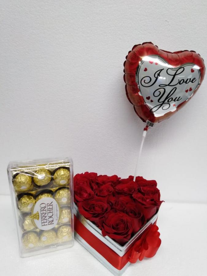 Caja de rosas Anastasia