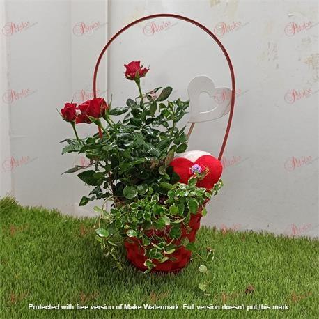 Cesta de rosas Uriel