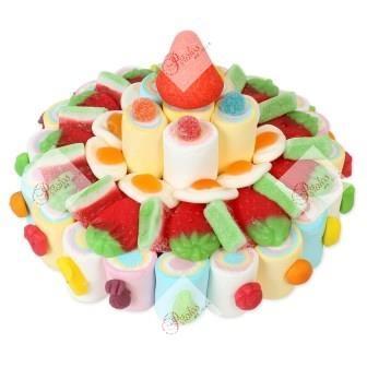 Tarta de gominolas de colores