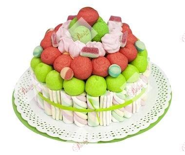 Tarta de gominolas multicolor