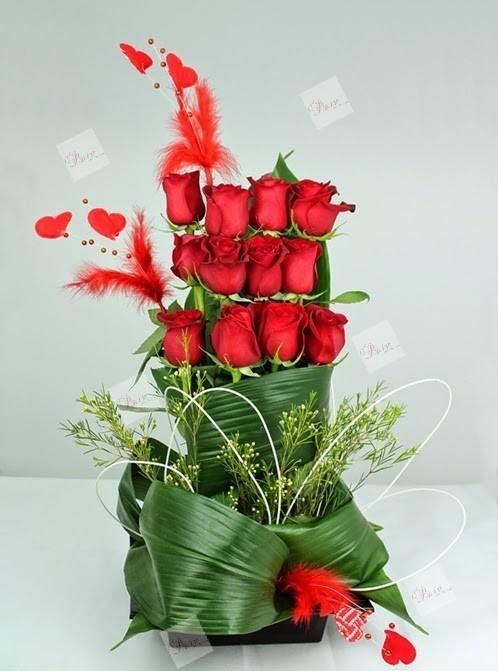 Centro de rosas Átika