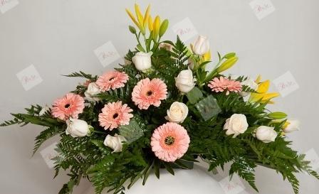 Almohadón de flores Isaura