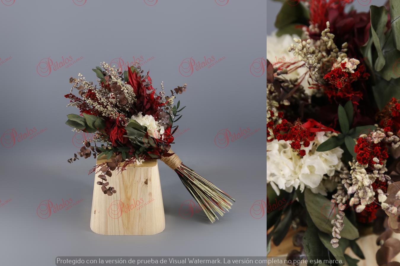 Ramo de novia seco / preservado Steragon blanco